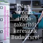 4 órás iroda-takarító munka Budaörs